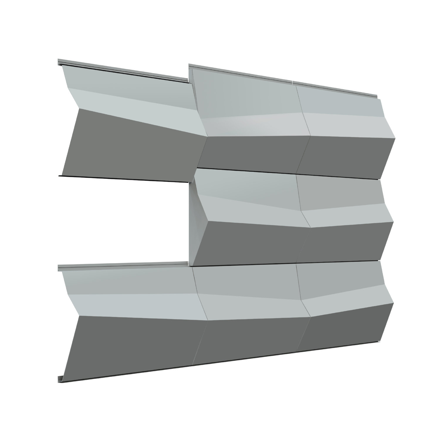 Sculpted 3D Sculpted 3D rainscreen metal panel systems - Parametric