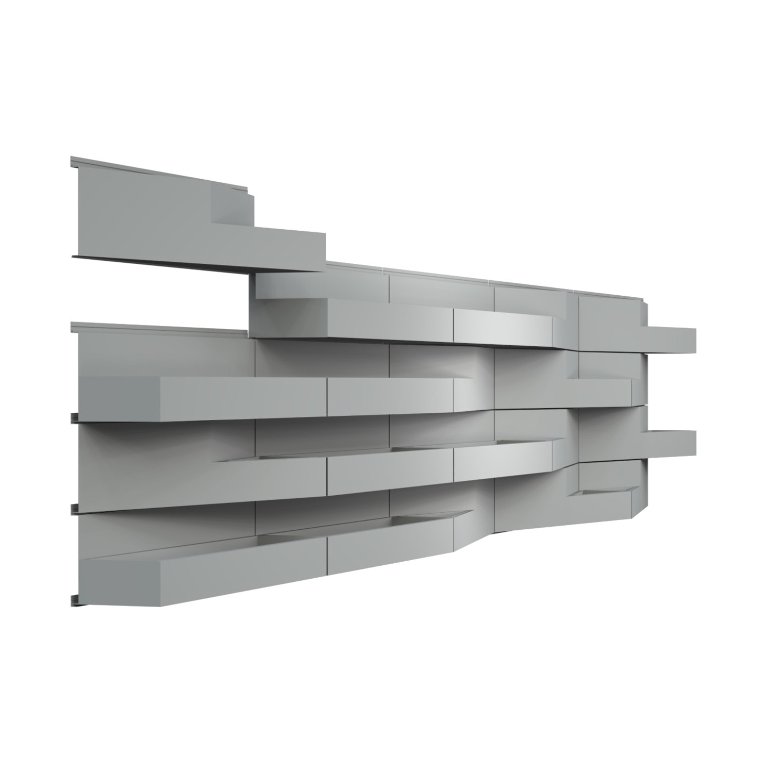 Sculpted 3D Sculpted 3D rainscreen metal panel systems - Ribbon