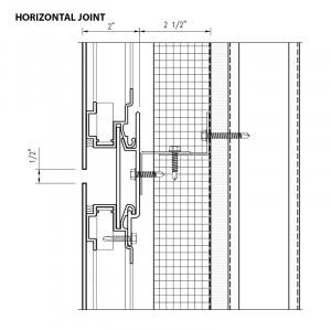Ameriplate floating metal panel horizontal joint