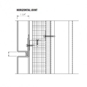 arcwall rainscreen system horizontal-joint
