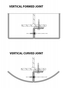 Metalwerks Column and Beam Cladding vertical curved joint