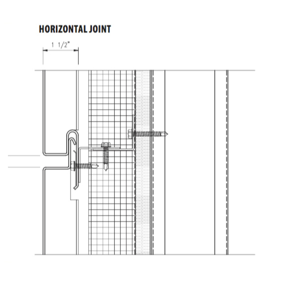 econowall rainscreen system horizontal joint