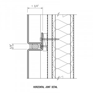 Omniplate 1500 economical barrier wall system horizontal joint