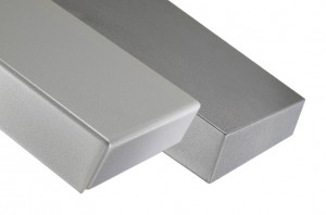 Optional back-cuts on formed metal panel